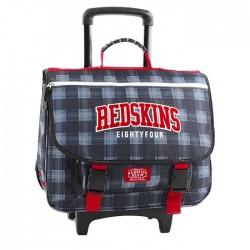 Cartable à roulettes 41 CM Redskins carreau Haut de gamme