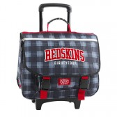Cartable à roulettes 41 CM Redskins Bleu carreau Haut de gamme