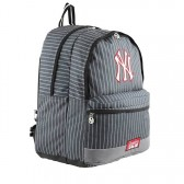 Sac à dos New York Yankees Noir Couture 45 CM - 2 cpt