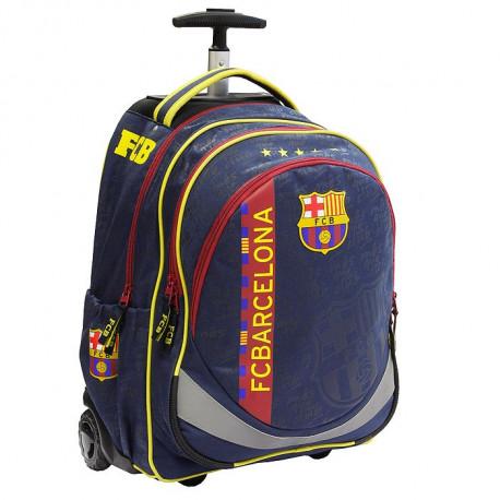 Sac à roulettes 47 CM FC Barcelone Basic Haut de gamme - 2 cpt - Cartable