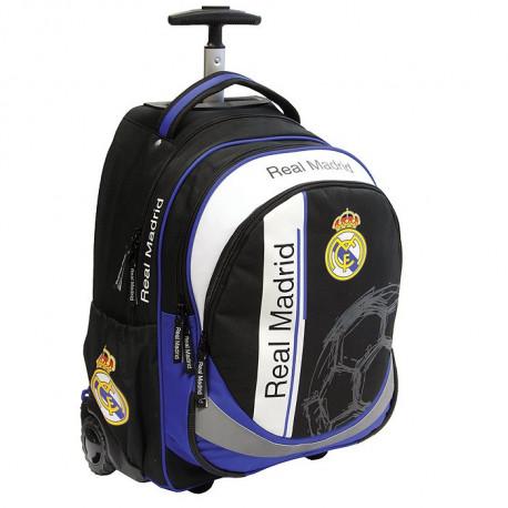 Sac à dos à roulettes Real Madrid Noir Noir Bleu uNKCu3V