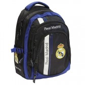 Sac à dos Real Madrid Black Basic 46 CM Haut de Gamme - 3 Cpt