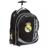 45 CM Real Madrid negro alto - bolso bolso de escuela de la carretilla