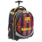Sac à roulettes 45 CM FC Barcelone Basic Haut de gamme - 2 cpt - Cartable