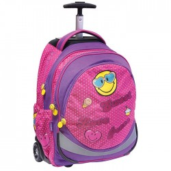 Smiley Emoji 45 CM High-end Caratet Wheeled Backpack