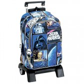 Sac à dos à roulettes Star Wars Space 43 CM trolley Haut de Gamme - Cartable