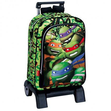 Mochila 42 CM carretilla premium - carpeta Mutant Ninja tortugas patín
