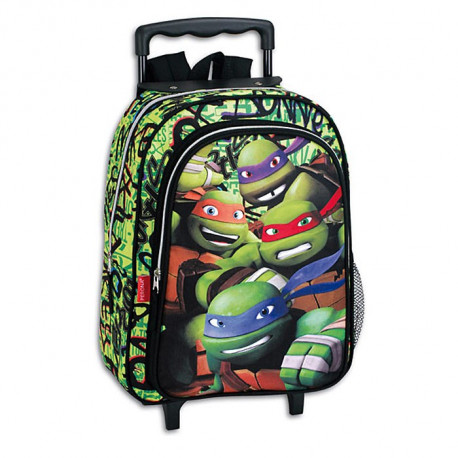 sac dos roulettes tortue ninja mutant 37 cm trolley cartable - Cartable Tortue Ninja