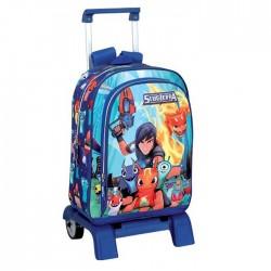 Backpack skateboard Slugterra 42 CM trolley premium - Binder