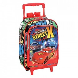 Sac à dos à roulettes maternelle Cars Disney Street 37 CM trolley - Cartable