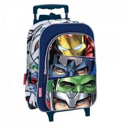 Sac à dos à roulettes Avengers Team 37 CM trolley maternelle - Cartable
