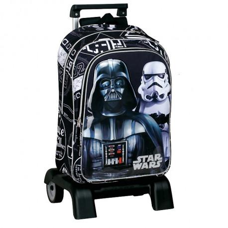 Sac à dos à roulettes Star Wars The Force 43 CM trolley Haut de Gamme - Cartable