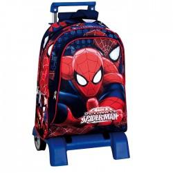 Sac à dos à roulettes Spiderman Eyes 43 CM trolley Haut de Gamme - Cartable