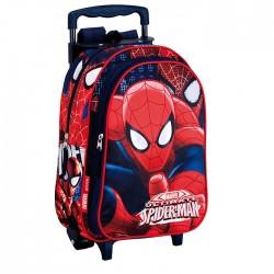 Sac à dos à roulettes maternelle Spiderman Eyes 37 CM trolley - Cartable