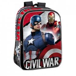 Sac à dos Captain America Civil War 43 CM Haut de Gamme - Avengers