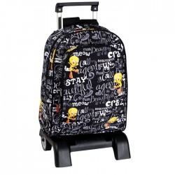 Rolling Backpack Titi Black 42 CM - Trolley