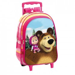 Backpack skateboard Masha and Michka 37 CM trolley - Binder