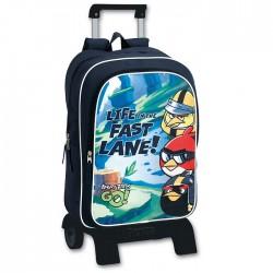 Sac à dos à roulettes Angry Birds Go Fast 42 CM Haut de Gamme - Cartable