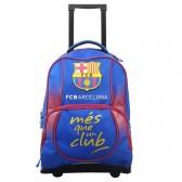 Sac à dos à roulettes 47 CM FC Barcelone Basic Haut de gamme - 2 cpt - Cartable