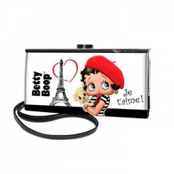 Porte monnaie long Betty Boop Paris Je t'aime 19 CM