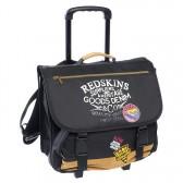 Cartable à roulettes 41 CM Redskins Noir Factory Haut de gamme