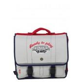 Schoolbag 38 CM grey boy Kickers