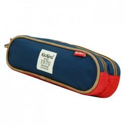 Trousse double Kickers rouge et bleu 24 CM