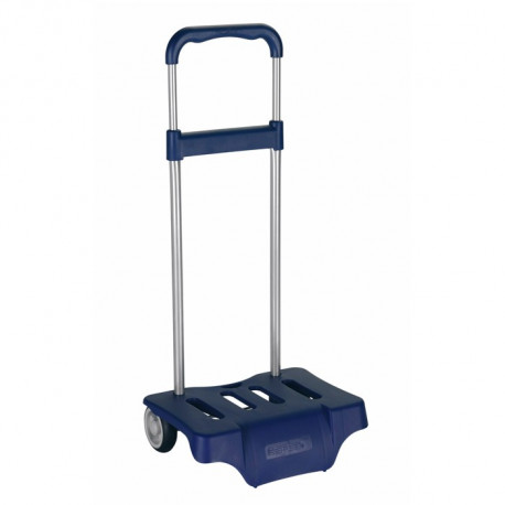 Blue wheeled trolley dark for backpack