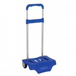 Ocean blue wheeled trolley for backpack