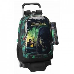 Rolling Backpack Mowgli Book Jungle 44 CM + Kit