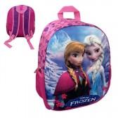 Sac à dos coque Frozen La reine des neiges Elsa et Anna 3D 34 CM