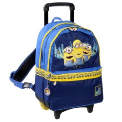 Rolling Backpack Minions Blue 45 CM Trolley Premium