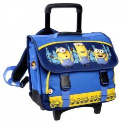 Bookbag skateboard Minions 38 CM high end blue