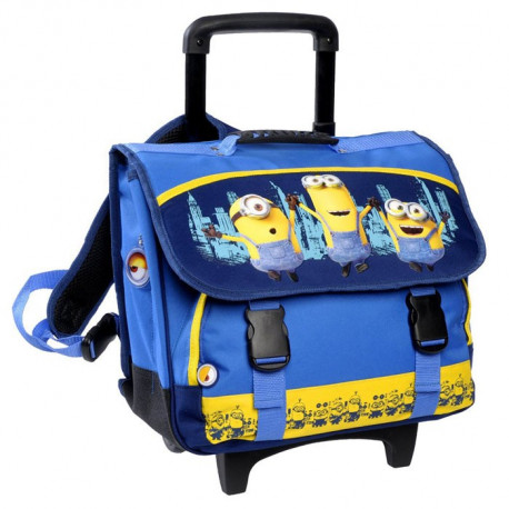 cartable a roulettes minions trolley. Black Bedroom Furniture Sets. Home Design Ideas