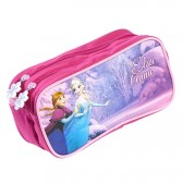 Trousse rectangle Reine des neiges Frozen 22 CM Rose - 2 cpt