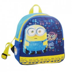 Backpack maternal Minions blue 27 CM