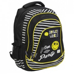 Sac à dos Smiley World 46 CM Noir - 3 Cpt