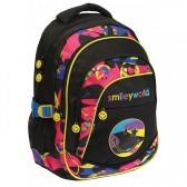 Sac à dos Smiley Surf 46 CM Noir - 3 Cpt