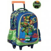 Cartable à roulettes Tortue Ninja 43 CM Power Trolley