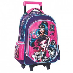Mochila con ruedas Trolley escolar Monster High 43 CM - Bolsa