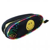 Trousse Smiley Cool Noire 21 CM - 2 cpt