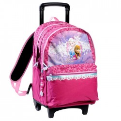 The snow Queen wheeled travelbag pink 45 CM high