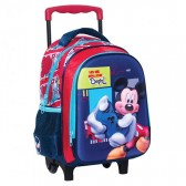 Sac à roulettes Mickey  trolley maternelle 3D 30 CM - Cartable