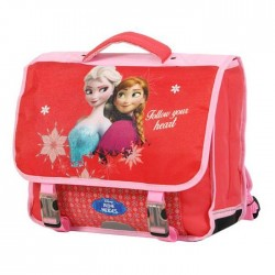 Cartable Reine des neiges 38 CM Rouge - Frozen