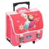 Cartable à roulettes Frozen La reine des neiges 38 CM Rose