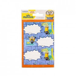 Lot of 12 labels Minions Bello