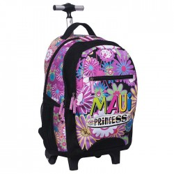 Sac à roulettes Maui & Sons Flower 48 CM type cartable