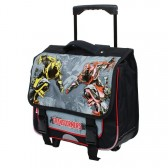 Cartable à roulettes Transformers 43 CM Trolley Haut de gamme - Cartable