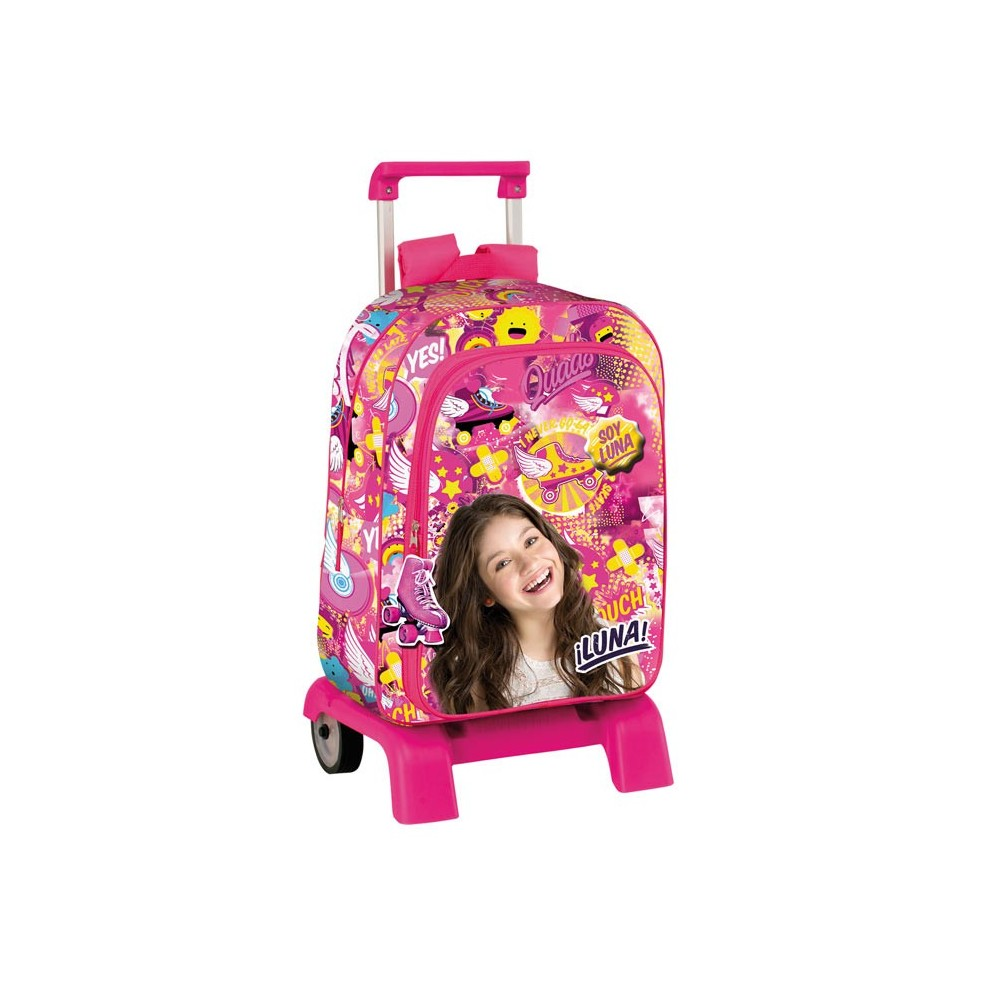 mochila premium de carro patineta soy luna 42 cm. Black Bedroom Furniture Sets. Home Design Ideas