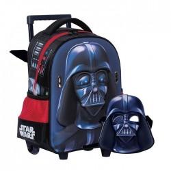 Sac à roulettes trolley maternelle Star Wars Dark Vador 31 CM + Masque